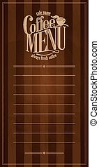 Coffee Menu Design retro card