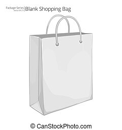 Vector Shopping Bag. - Abstract sketch style of a classic...