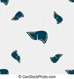 Liver sign Seamless pattern with geometric texture Vector...
