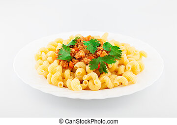 Plate Of Pasta Bolognese - Pasta with delicious Bolognese...