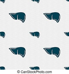 Liver sign. Seamless pattern with geometric texture. Vector...