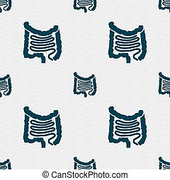 Intestines sign. Seamless pattern with geometric texture....