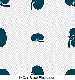 Kidney sign Seamless pattern with geometric texture Vector...