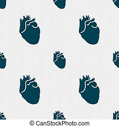 Human heart sign. Seamless pattern with geometric texture....