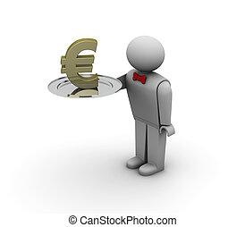 plato, plata,  Euro