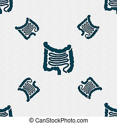 Intestines sign Seamless pattern with geometric texture...