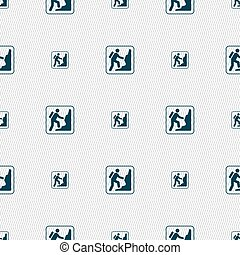 rock climbing sign. Seamless pattern with geometric texture. Vector