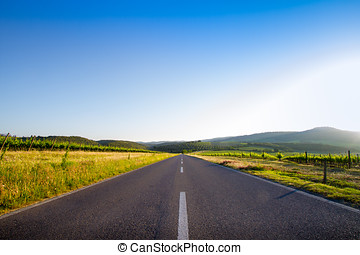 country road in Tuscany, Italy - country road near San...