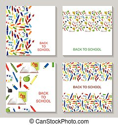 Back to school congratulatory card set