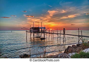 Adriatic sea coast in Chieti, Abruzzo, Italy - Chieti,...