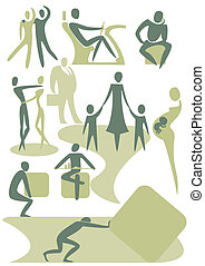 People - There are the icons, representing modern humans in...