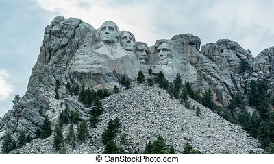Mount Rushmore Time Lapse - Mount Rushmore day to night time...
