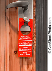 Door sign hanger - Do Not Disturb