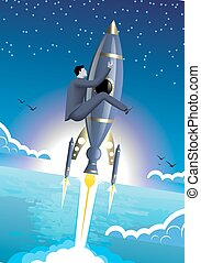 Up to the stars business concept
