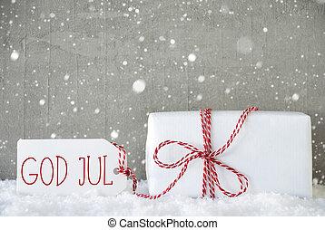 Baggrund, betyder, Gud, Sneflager, Cement, gave, jul, Merry,...