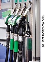 Gas nozzles close-up