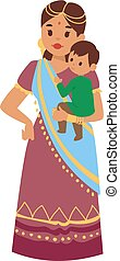 Vector illustration indian girl