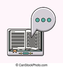 electronic book isolated icon vector illustration design