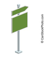 traffic signal with arrow isometric icon vector illustration...