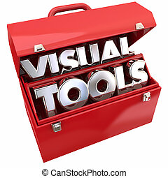 Visual Tools Learning Education Resources Toolbox 3d Illustration