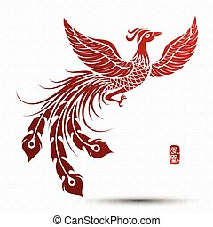 Chinese phoenix - Illustration of Traditional Chinese...