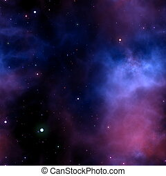 Seamless Galaxy Background with Stars and Cloud