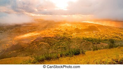 Beautiful view from top of Batur - Beautiful view from the...