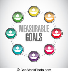 measurable goals people sign concept illustration design...