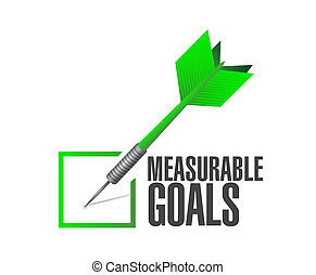 measurable goals check dart sign concept illustration design...