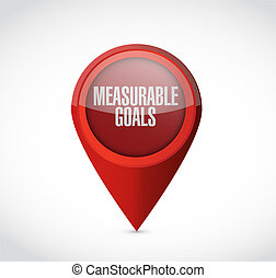 measurable goals pointer sign concept illustration design...