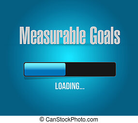 measurable goals loading bar sign concept illustration...