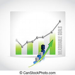 measurable goals business graph sign concept illustration...