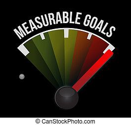 measurable goals meter sign concept illustration design...