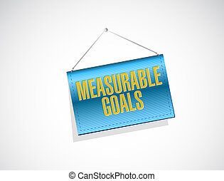 measurable goals banner sign concept illustration design...