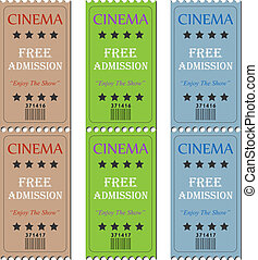 Image of various cinema tickets