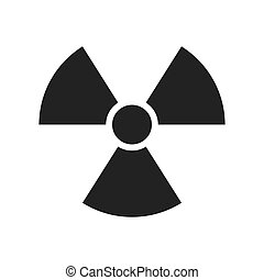 nuclear sign radiation - nuclear radiation toxic precaution...