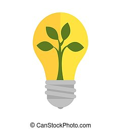 bulb plant ecology light bright growing nature vector...