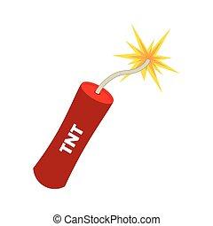 tnt explode dynamite explosion bomb danger vector...