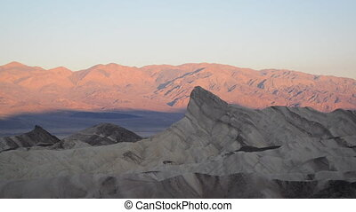 Sunrise at Zabriskie Point in Death Valley National Park in...