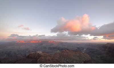 Wide View of Grand Canyon - Wide view of clouds passing over...