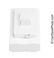 doorbell isolated on white background - doorbell isolated on...
