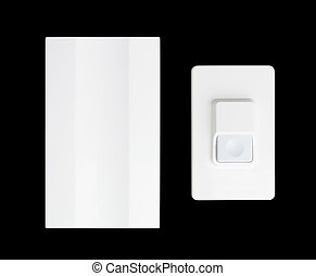 doorbell isolated on black background - doorbell isolated on...