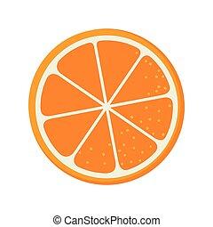 orange fruit food natural organic nutrition nature vector...
