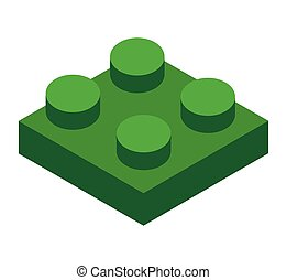 piece isometric game puzzle isolated icon