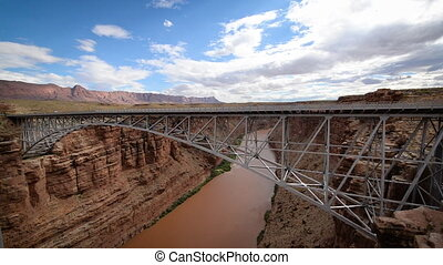 Marble Canyon and Bridge - Colorado River passing through...
