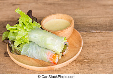 Vegetable salad in wooden plate - Vegetable salad in wooden...