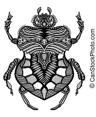 Hand drawn cuvera bug - Hand drawn bug for coloring...