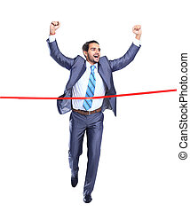concept of a successful businessman finish - Happy...