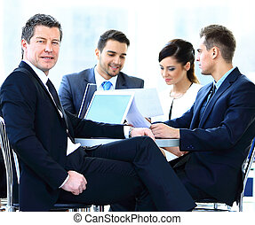 business people meeting in a modern office - Portrait of...