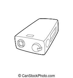 Electronic cigarette charger icon, outline style